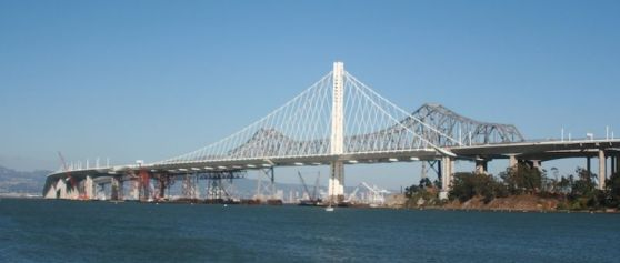 The eastern span of the Bay Bridge nearing completion in July, 2013.