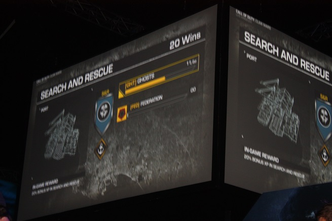 Call of Duty: Ghosts' clan battle screen.