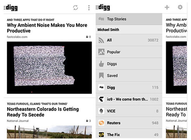 Digg's new app for Android