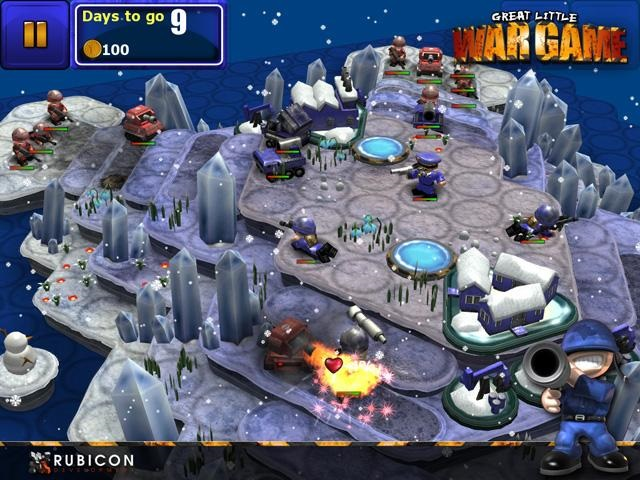 Great Little Wargame snow battle