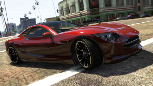 One of the cars from Rockstar's Grand Theft Auto V.