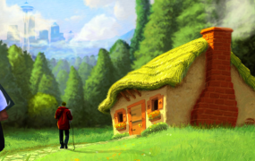 Inspirational artwork for Seattle's development-fostering company HouseOgames.