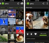 Screenshots of the Imgur iPhone app
