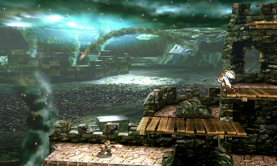 Kid Icarus stage - 3DS Version