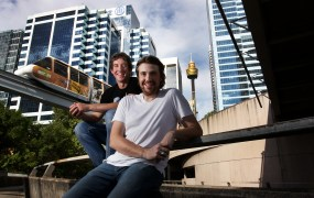 Atlassian cofounders Scott Farquhar and Mike Cannon-Brookes