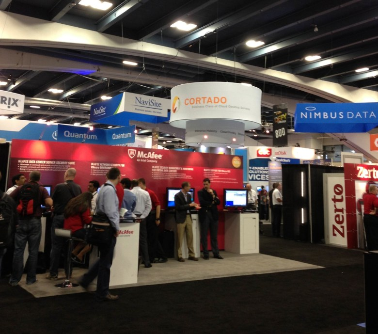 Exhibitors at VMworld.