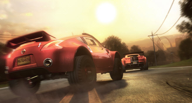 Ubisoft's next-gen racer The Crew in action.