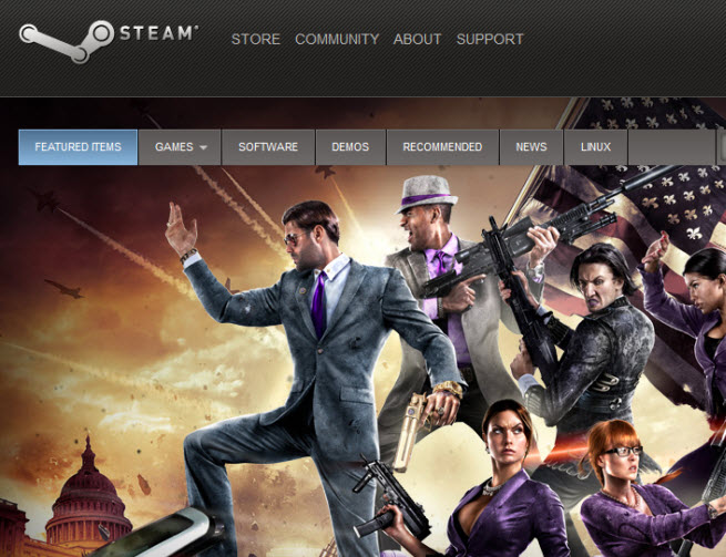 Valve's Steam digital-distribution service.