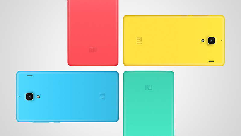 Xiaomi's Red Rice phone in multiple colors.