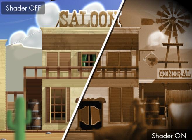YoYo Games' shader effects
