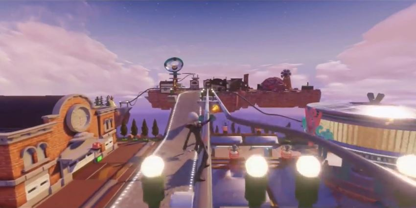 A Toy Box stage based on the world of Columbia from BioShock Infinite.