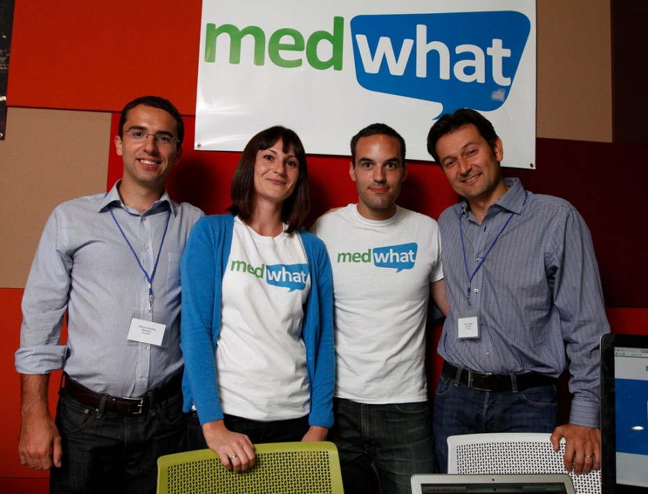 MedWhat CEO Arturo Devesa, CTO Lucia Sanchez, engineer Pieter DeJong, and Chief Medical Adviser Dr. Oliver Aalami.