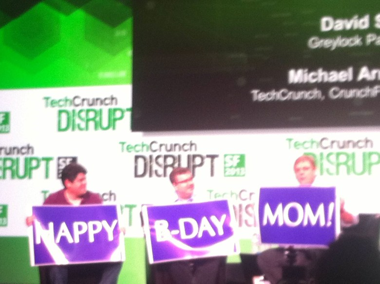 "David Sze and Reid Hoffman say ""Happy Birthday"" to Michael Arrington's mom."
