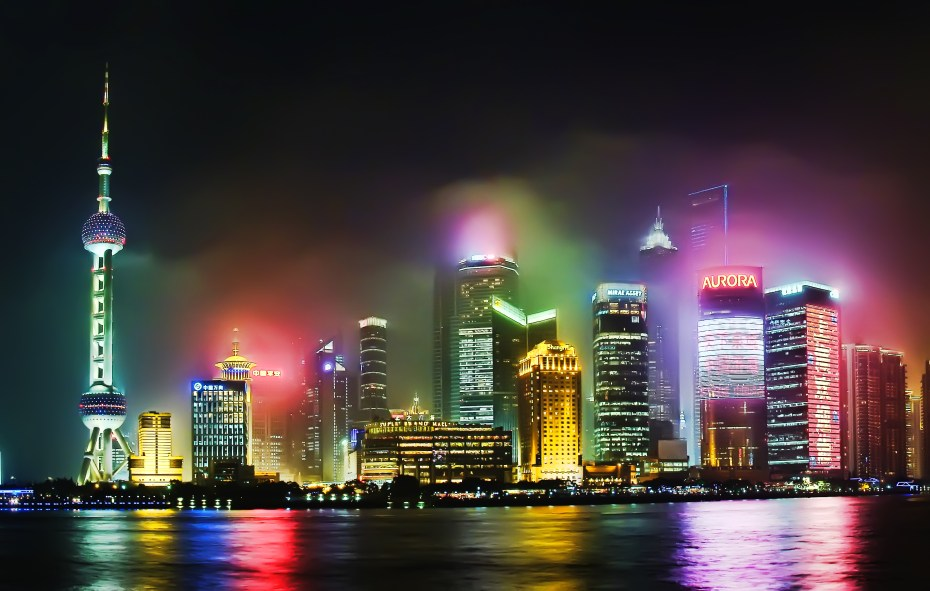 Hazy Shanghai in China -- which could soon be open to the Xbox.