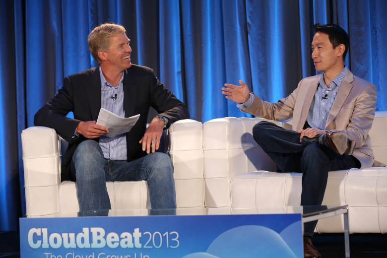 Salesforce.com COO George Hu with Emergence Capital's Gordon Ritter