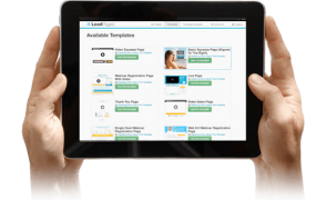 LeadPages on a tablet.