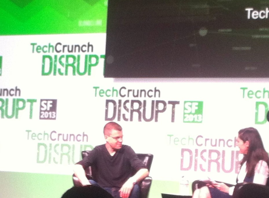 PayPal cofounder Max Levchin speaks at TechCrunch Disrupt.