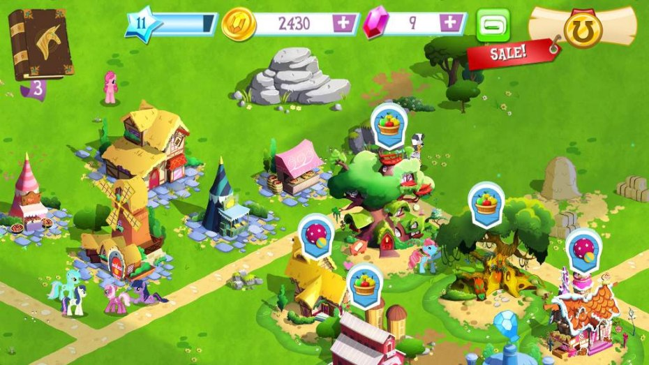 Gameloft's licensed My Little Pony game for mobile.