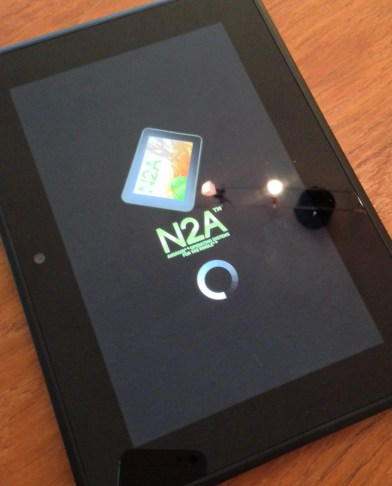 N2A OS firing up when your Kindle starts