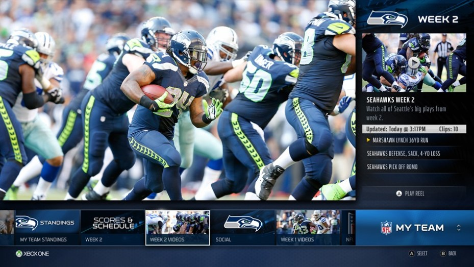 Xbox One's NFL features.