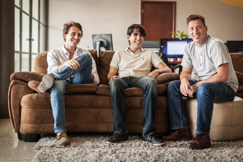 ReTweeti founders Gustavo Lopez and Manuel de la Torre, with Andy Kieffer.