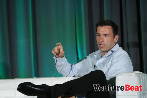 Practice Fusion CEO Ryan Howard speaking at the HealthBeat conference