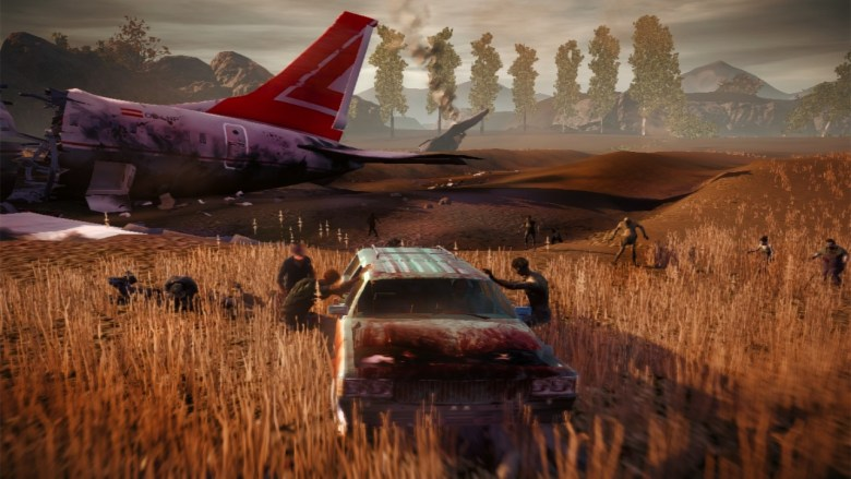 Zombies attacking in Undead Labs' State of Decay.