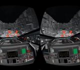 "The Death Star trench run from ""Star Wars"" re-created for the Oculus Rift VR headset."