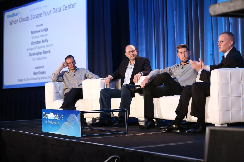 VMware customers talk about the new VMware public cloud at VentureBeat's CloudBeat conference in San Francisco on Monday.