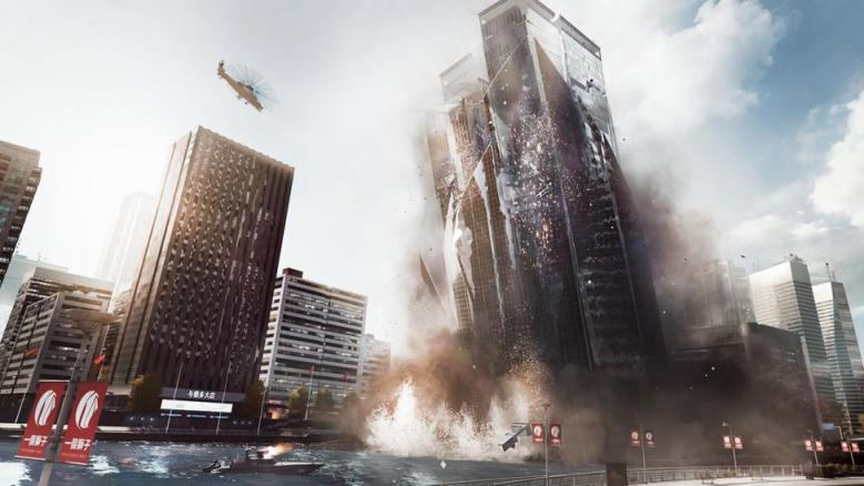 Collapsing building in Battlefield 4.