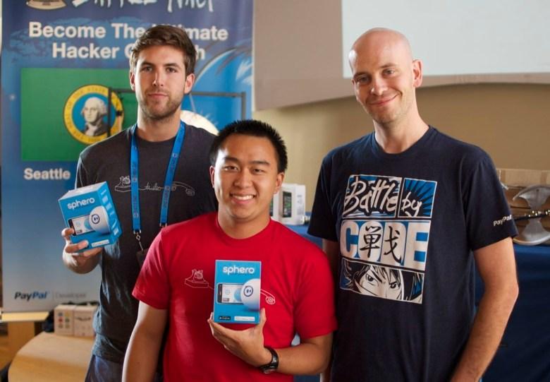Alex Day, Yiling Hu, and Paypal's head of developer evangelism Jonathan LeBlanc