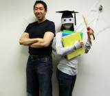 Cofounder Andrew Ng with mystery student.