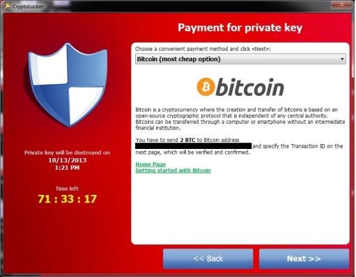 CryptoLocker Bitcoin