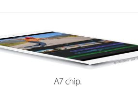 Apple's new iPad Air will feature the 64-bit A7 chip.
