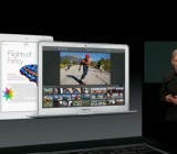 Tim Cook shows off the new iWork and iLife apps at Apple's media event Tuesday