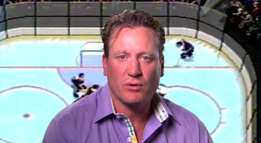 Former NHL star Jeremy Roenick talking sports games with E:60.