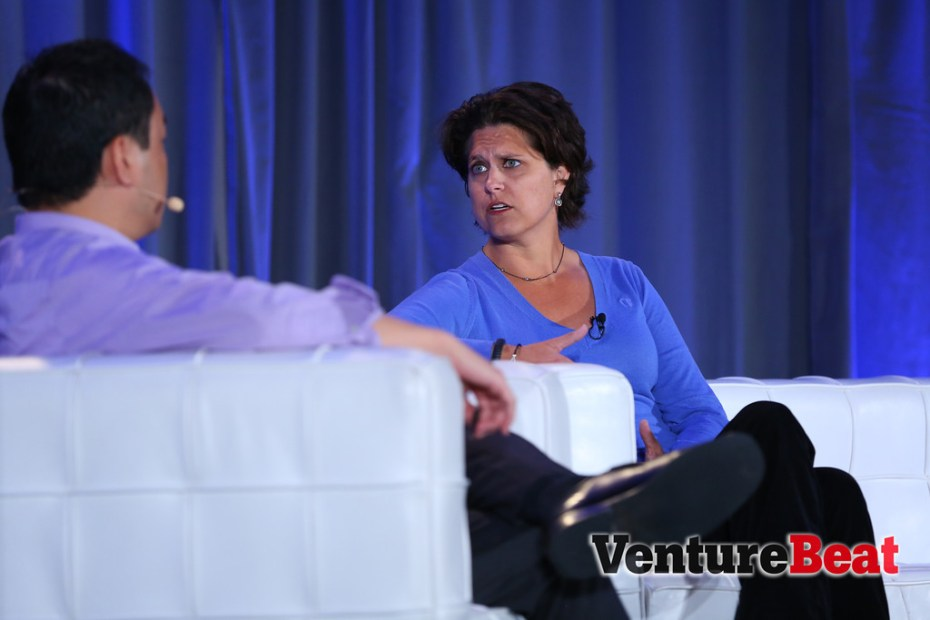 Ouya CEO Julie Uhrman in conversation with GamesBeat editor-in-chief Dan Hsu at GamesBeat 2013