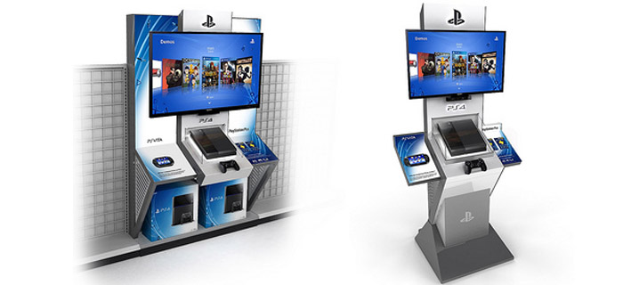 The PlayStation 4 demo kiosk.