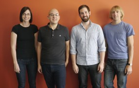 Mode Analytics' Heather Rivers, Josh Ferguson, Derek Steer, Benn Stancil (L-R)