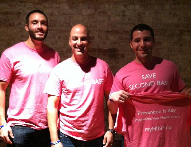 MyHint founders Clark Lagemann, David Goldstein, Dan Sorkin (L-R)