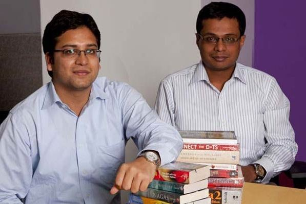 Flipkart cofounders Sanchin and Binny Bansal.