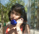 mom on the phone