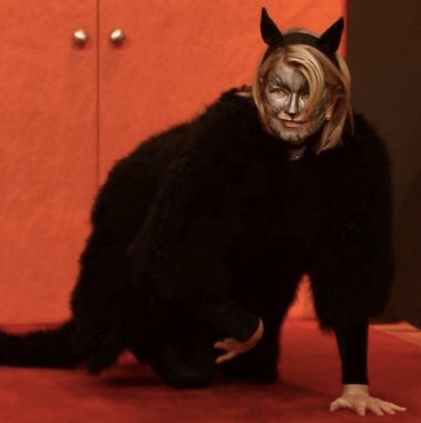 "@ms_living: ""Wishing you a purr-fect Halloween! #tbt #thecatsmeow"""