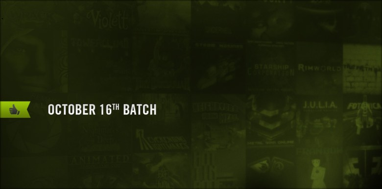 The Oct. 16 batch of Steam Greenlight titles.
