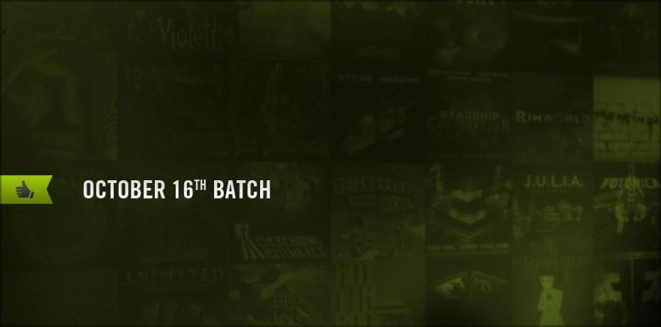 The Oct. 16 batch of Steam Greenlight titles.