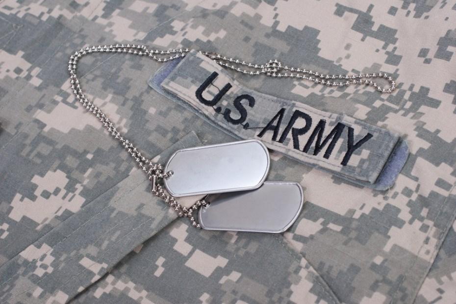 Two blank U.S. Army dog tags