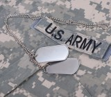 Two blank U.S. Army dog tags
