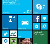 The upgraded Windows Phone 8 Start screen