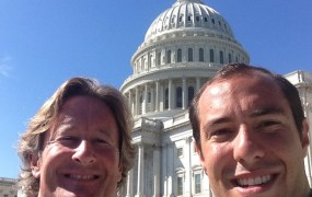FindTheBest CEO Kevin O'Connor and director of operations Danny Seigle fighting trolls on Capitol Hill.
