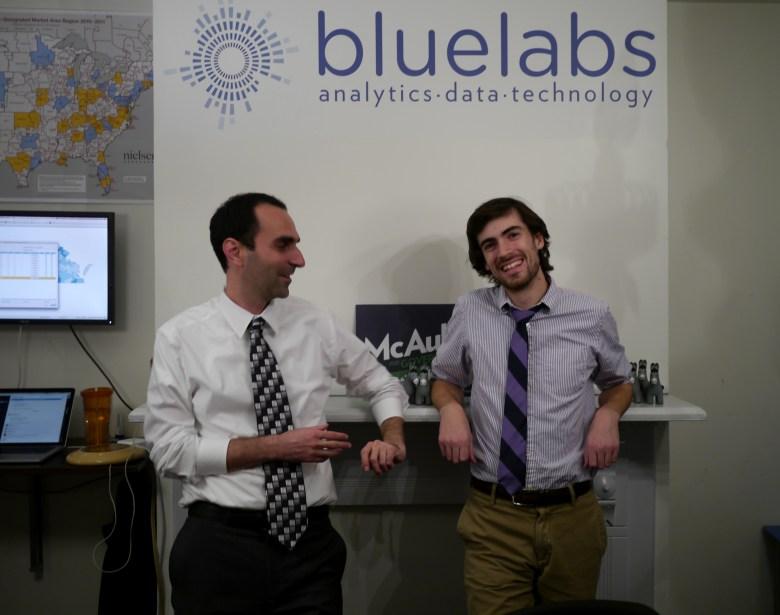 BlueLabs cofounders Elan Kriegel, left, and Chris Wegrzyn.